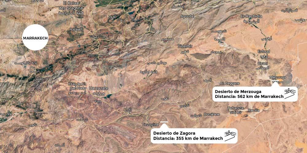 carte desert marrakech